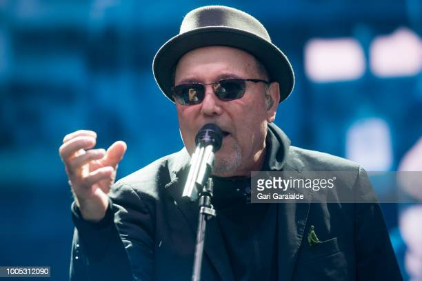 Panamanian musician and singer Ruben Blades performs onstage during 53rd edition of Heineken Jazzaldia Festival on July 25, 2018 in San Sebastian,...