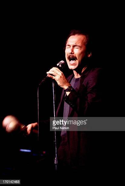 Panamanian musician Ruben Blades performs onstage Chicago Illinois November 2 1985