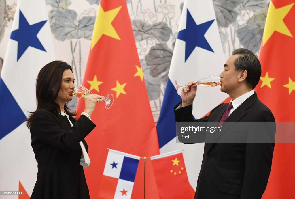Panama's Foreign Minister Isabel de Saint Malo Visits Beijing