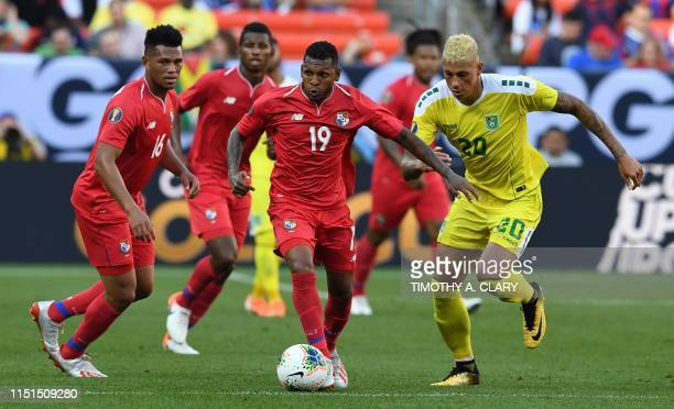 Panama's midfielder Alberto Quintero controls the ball during their CONCACAF Gold Cup group stage football match against Guyana at First Energy...