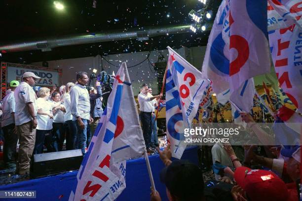 Panama's presidential candidate for the Democratic Revolutionary Party Laurentino Cortizo celebrates his win after being elected President of Panama...