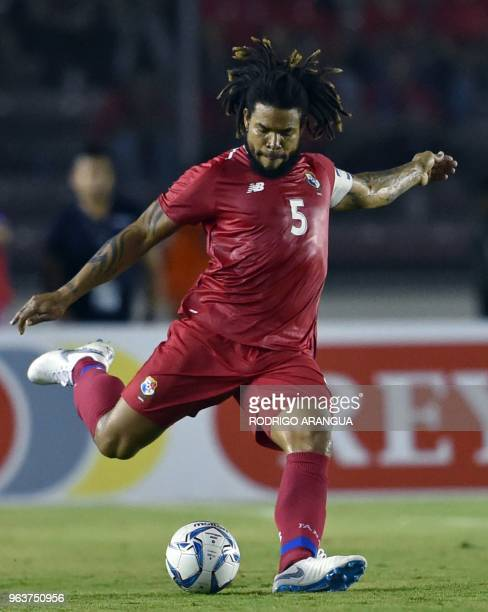 Panama's Roman Torres is pictured during the international friendly football match against Northern Ireland at the Rommel Fernandez Stadium in Panama...