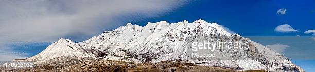 Panarama Of Mount Timpanogos Taken From Orem Utah Mountain Is About 12 000 Feet Above Sea Level With The Valley Floor Of About 5 000 Feet Indian...