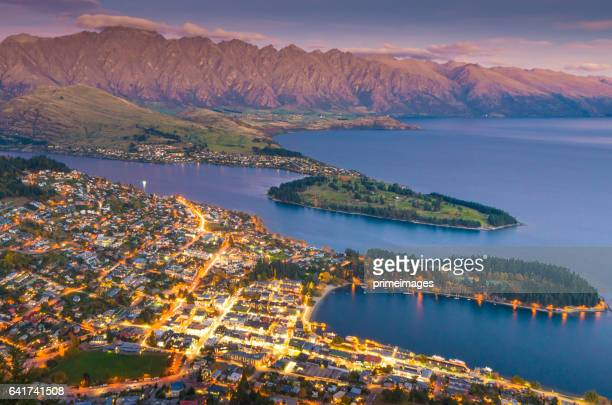 Panaramic view of famaus place at south island Queenstown