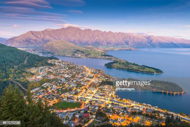 panaramic view of famaus place at south island queenstown - christchurch new zealand stock pictures, royalty-free photos & images