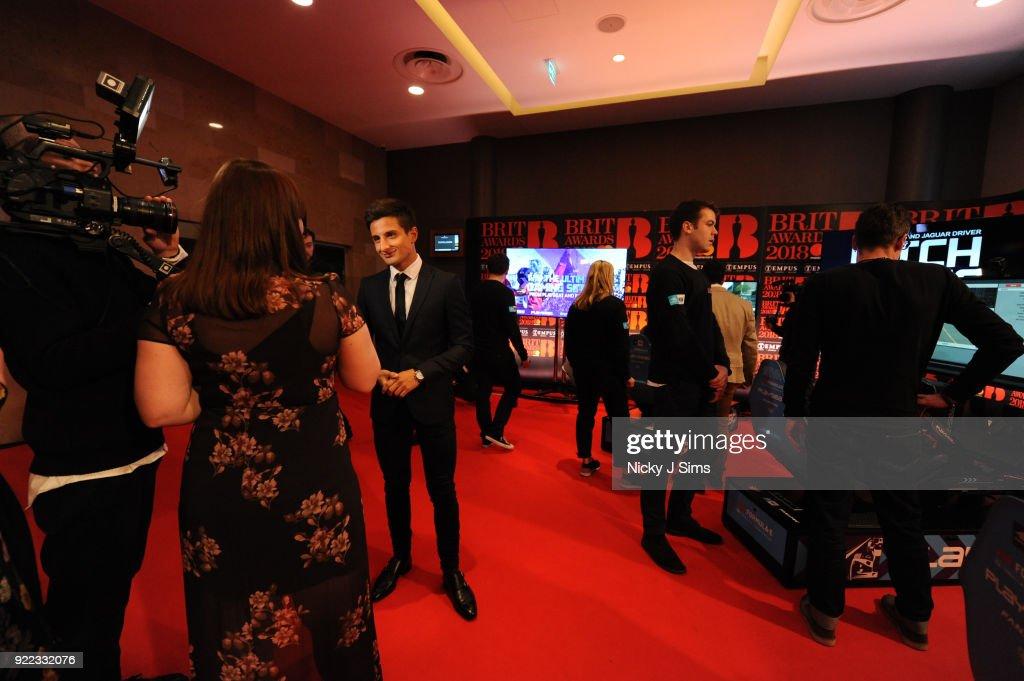 Formula E Simulators At The BRIT Awards 2018 After-Party : News Photo
