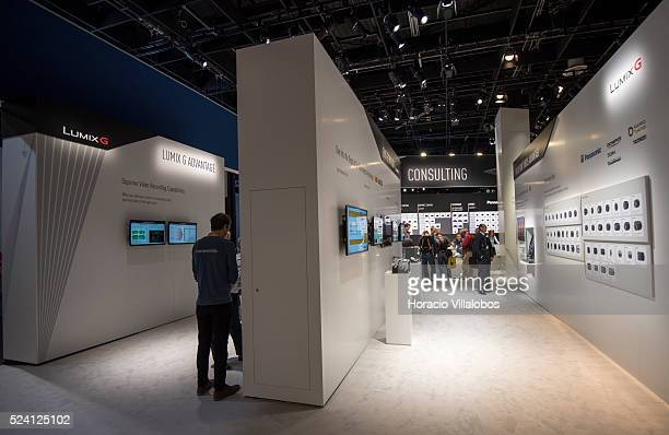 Panasonic stand in Photokina 2014 in Cologne Germany 18 September 2014 Photokina the world's leading imaging fair brings together the industry trade...