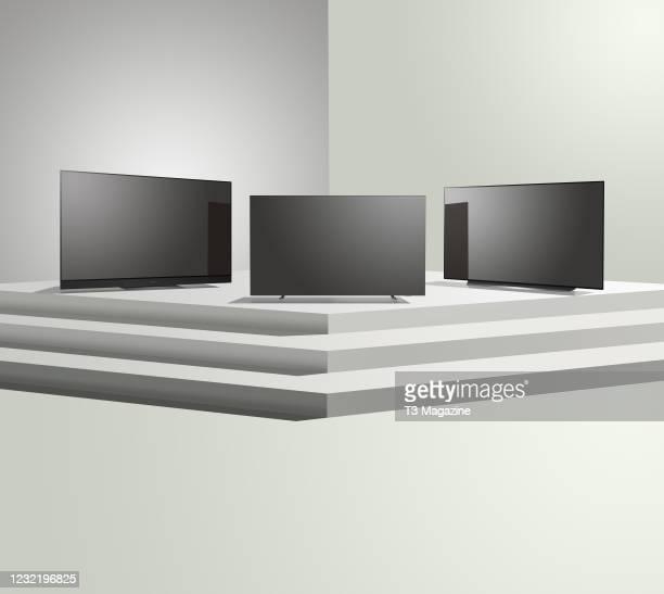 Panasonic TX-65HZ2000, Philips 55OLED804 and LG OLED55CX, taken on April 28, 2020.