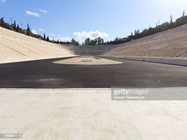panathinaic stadium in athens, greece - olympic stadium stock pictures, royalty-free photos & images