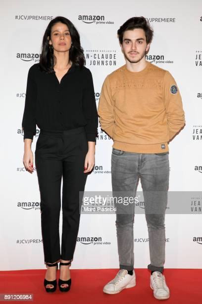 Panayotis Pascot and guest attend the Amazon TV series 'Jean Claude Van Johnson' Premiere at Le Grand Rex on December 12 2017 in Paris France