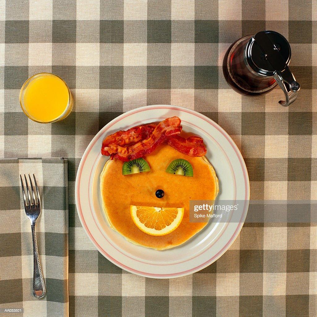 Pancake Face : Stock Photo