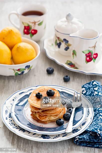 pancakes - anna verdina stock photos and pictures
