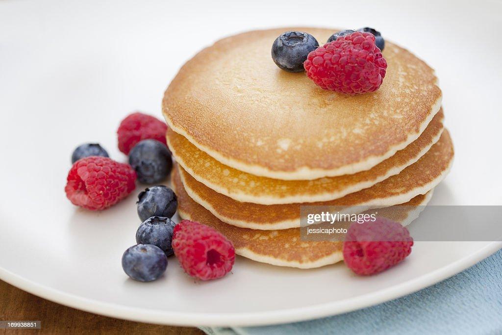 Pancakes with Fruit : Stock Photo