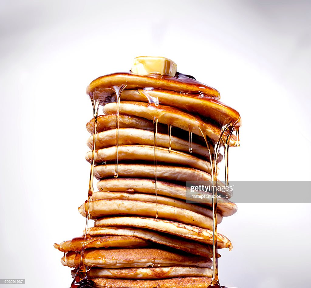 Pancakes with Syrup : Stock Photo