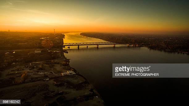pancevo bridge on danube river, belgrade - belgrade stock pictures, royalty-free photos & images