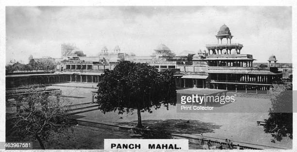 Panch Mahal, Fatehpur Sikri, Agra, India, c1925. The 16th-century Mughal Panch Mahal . Cigarette card produced by the Westminster Tobacco Co Ltd,...