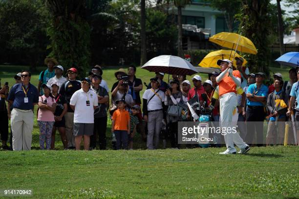 Panchara Khongwatmai of Thailand in action during day four of the Maybank Championship Malaysia at Saujana Golf and Country Club on February 4 2018...