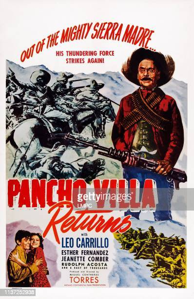 Pancho Villa Returns poster US poster bottom from left Rodolfo Acosta Esther Fernandez top right Leo Carrillo 1950