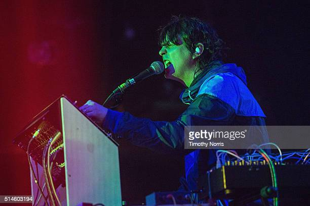 Panda Bear of Animal Collective performs at The Fonda Theatre on March 9 2016 in Los Angeles California