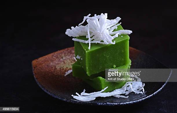 Pandan sweet pudding