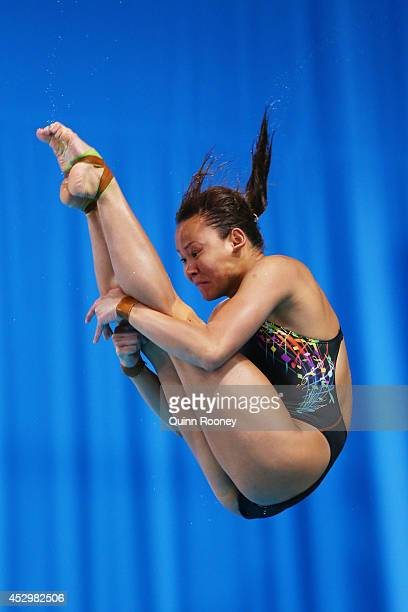 Pandelela Rining Pamg of Malaysia competes in the Women's 10m Platform Final at Royal Commonwealth Pool during day eight of the Glasgow 2014...