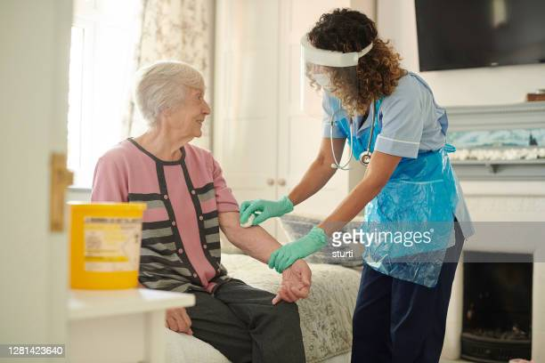 pandemic diabetic care - uk stock pictures, royalty-free photos & images
