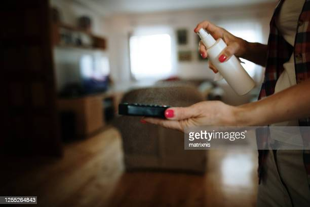 pandemic protection, disinfection of everyday use items in my house. - matrixnis stock pictures, royalty-free photos & images