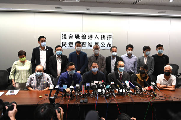 CHN: Hong Kong Pan-Democrat Lawmakers Press Conference