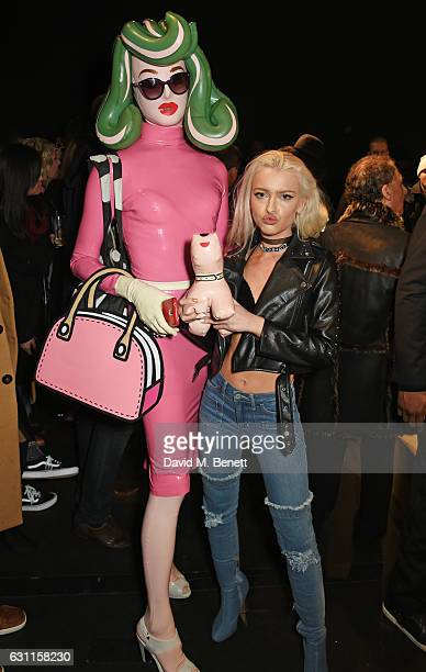 Pandemonia and Alice Chater attend the MCCVIII presentation during London Fashion Week Men's January 2017 collections at Institute Of Contemporary...