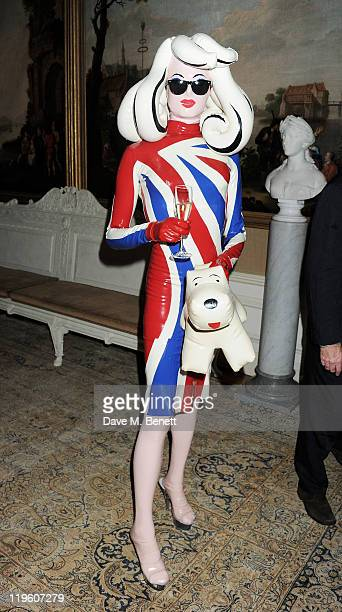 Pandemonia arrives at a party to celebrate the renovation of Easton Neston and to welcome designer Leon Max to his new headquarters held at Easton...