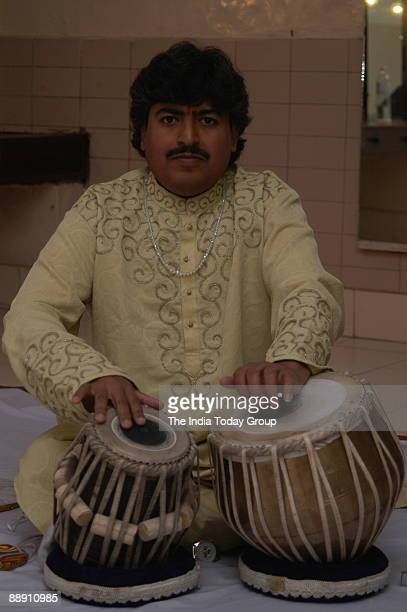 Pandit Ram Kumar Tabla player performing in New Delhi India