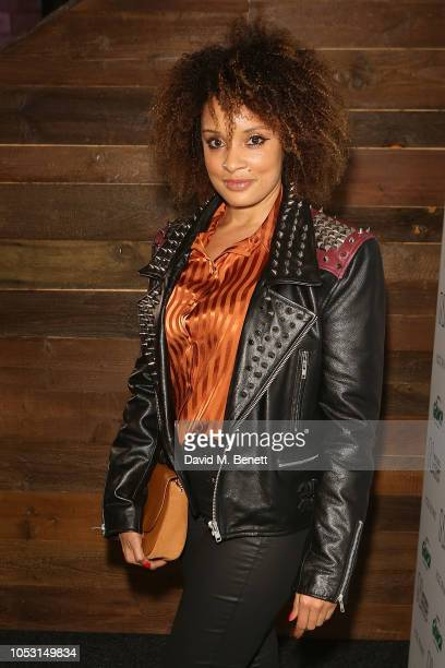 Pandora attends the Natural History Museum Ice Rink VIP launch night at Natural History Museum Ice Rink on October 24 2018 in London England