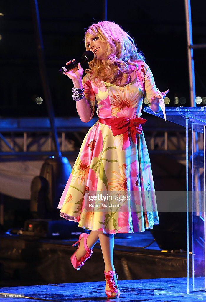 Pandora Boxx attends The Rally during NYC Pride 2013 on June 28, 2013 in New York City.