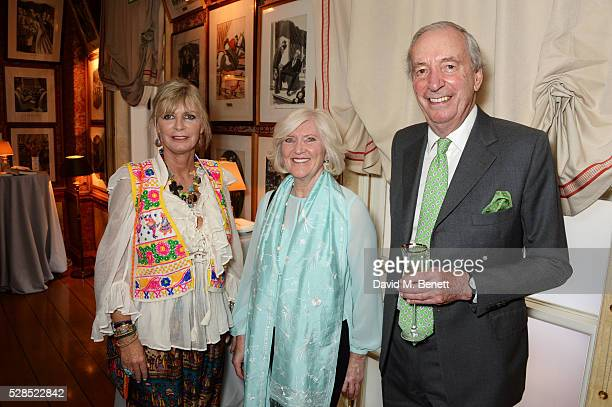 Pandora Delevingne and guests attend the launch of Dame Joan Collins' new book The St Tropez Lonely Hearts Club at Harry's Bar on May 5 2016 in...