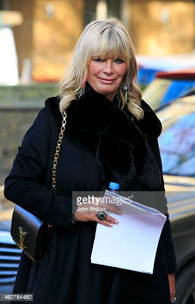 Pandora Delevingne attends a memorial for Sir Jocelyn Stevens at St Paul's Church on February 5 2015 in London England