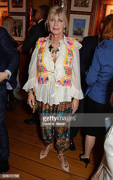 Pandora Delevingne attends the launch of Dame Joan Collins' new book The St Tropez Lonely Hearts Club at Harry's Bar on May 5 2016 in London England
