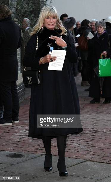 Pandora Delevingne is seen leaving the Sir Jocelyn Stevens memorial service who passed away at the age of 82 last year on February 05 2015 in London...