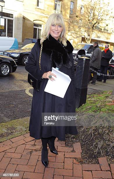 Pandora Delevingne seen arriving at the Sir Jocelyn Stevens memorial service who passed away at the age of 82 last year on February 05 2015 in London...