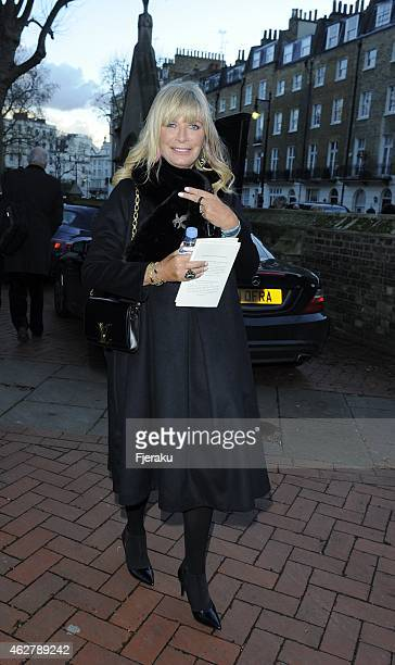 Pandora Delevingne seen leaving the Sir Jocelyn Stevens memorial service who passed away at the age of 82 last year on February 05 2015 in London...