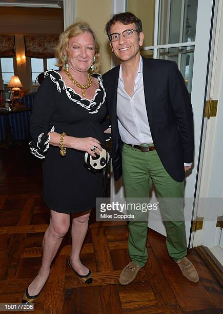 Pandora Duke Biddle and Benjamin Doller attend Fourth Annual Best Buddies Hamptons Gala Viva La France on August 11 2012 in Water Mill New York