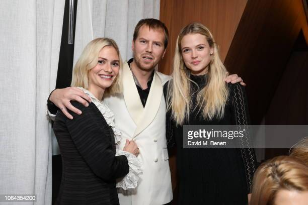 Pandora Sykes Alan Power and Gabriella Wilde attend Alexa Chung's CHUNGSGIVING dinner to celebrate Thanksgiving and the launch of her exclusive...