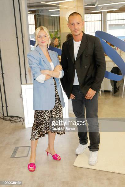Hannah Wallace and Joel Boyd attend the launch of The House of Peroni on July 16 2018 in London United Kingdom
