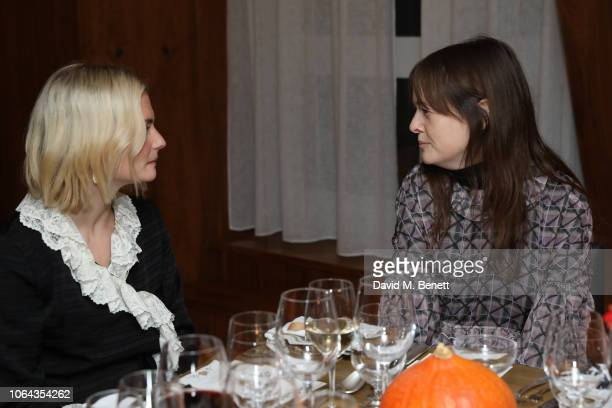 Pandora Sykes and Leith Clarke attend Alexa Chung's CHUNGSGIVING dinner to celebrate Thanksgiving and the launch of her exclusive ALEXACHUNG holiday...