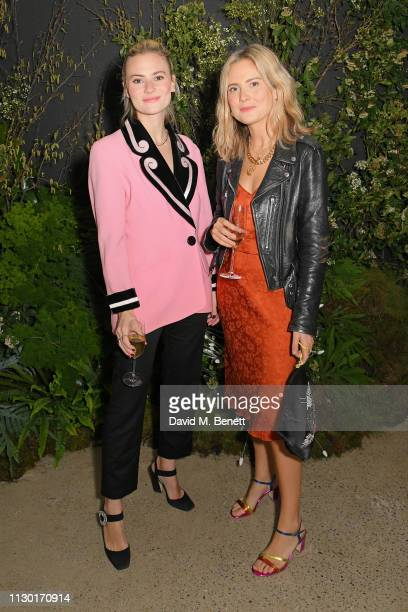 Pandora Sykes and Lucy Williams attends a private dinner to celebrate the launch of the new ALEXACHUNG x Sunglass Hut eyewear collection at Wild by...