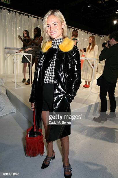 Pandora Sykes attends the Molly Goddard presentation during London Fashion Week Spring/Summer 2016 at the BFC Presentation Space on September 18 2015...