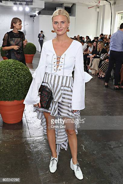 Pandora Sykes attends the Tibi fashion show during New York Fashion Week at Industria Studios on September 10 2016 in New York City