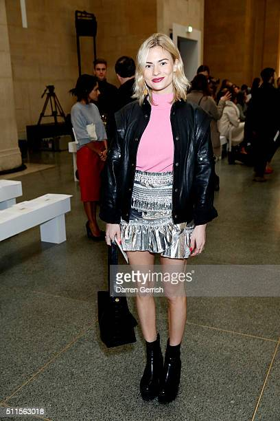 Pandora Sykes attends Topshop Unique LFW AW16 runway show at Tate Britain on February 21 2016 in London England