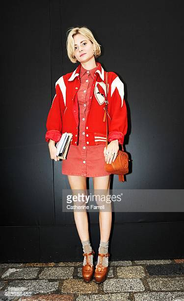 Pandora Sykes Fashion Editor at Style Magazine and The Sunday TImes Pandora Sykes Wearing Beyond Retro Footballers Jacket Emblazoned With...