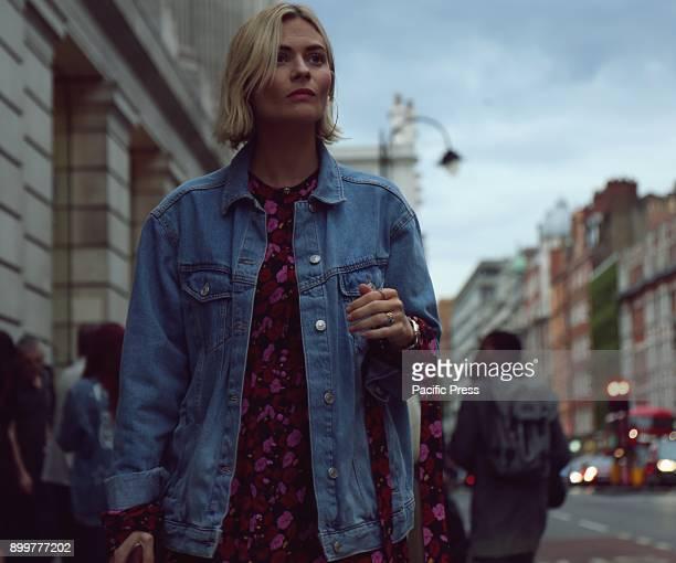 Pandora Sykes on the street during the London Fashion Week
