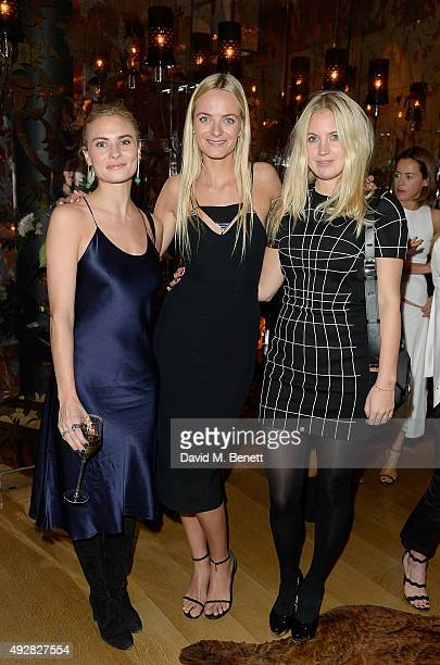 Pandora Sykes Virginie Courtin Clarins and Marissa Montgomery attend the Frieze Dinner hosted by Mugler for their handbag line launch at Rosewood...